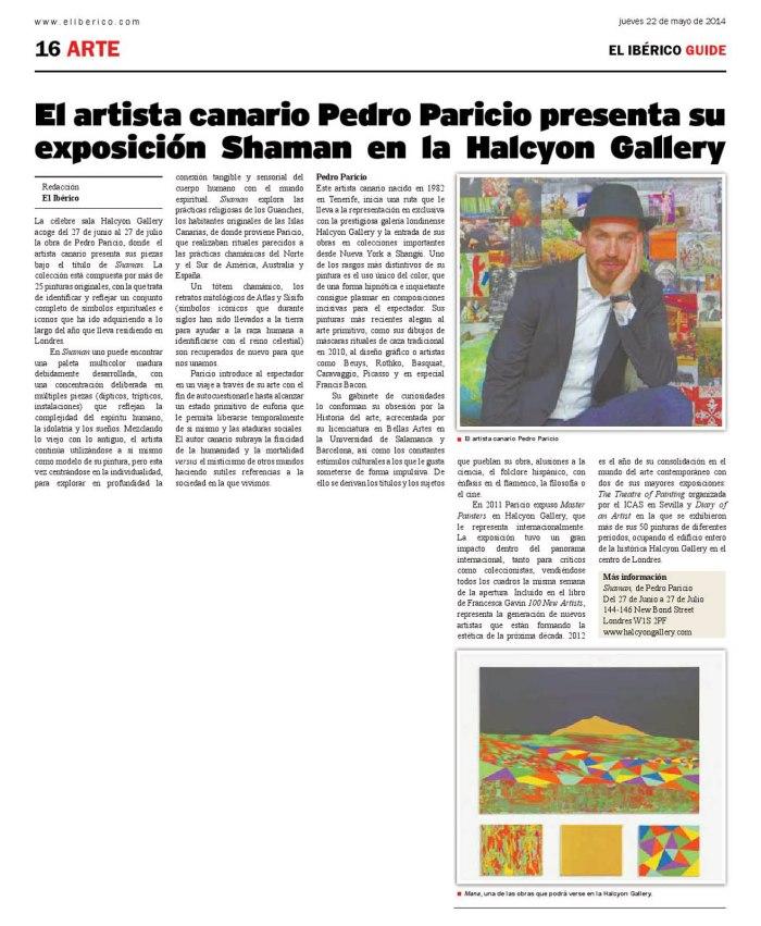 El artista canario presenta_El Iberico_22052014