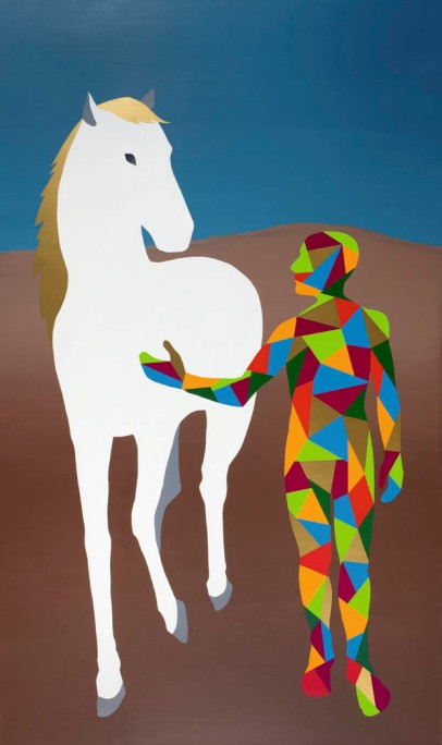 I am painting (nude with horse)