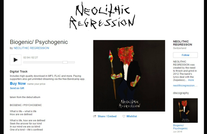 2015-11-01-Neolitihc Regression-cover album-COVER